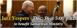 Jazz Vespers - Dec. 14, 2014 to benefit Community Ministries of Rockville