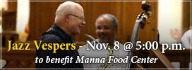 Jazz Vespers - November 8 at 5pm