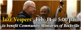 Jazz Vespers - February 14 at 5pm